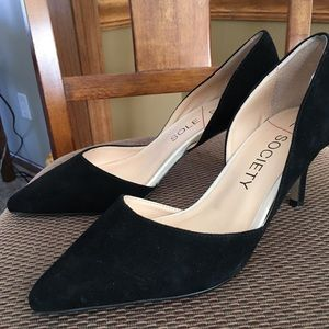 Sole Society Black suede pumps size 9.5
